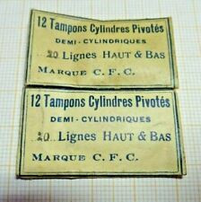 Lot mit   älteren,neuwertigen Zylinder Tampons für TU,21  Lignes,ältere La.
