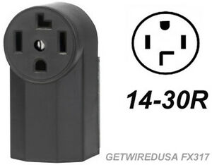Dryer Electric Wall Outlet Female 14 30r 4 Prong Plug In Box 220