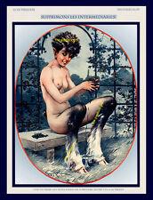 FAUNESS WITH WINE French Centaur Satyr La Vie Parisienne 8x10 Milliere Art print