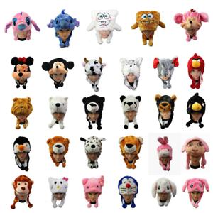 Children Kid Warm Soft Plush Cartoon Animal Hat Mask Scarf Costume Book Day Week