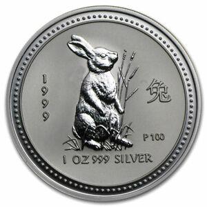 2011 Australia 1 oz .999 Silver Lunar Year of the Rabbit From Perth Mint Roll BU