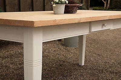 Esstisch Tisch Massivholz Esszimmer Landhaustisch 200 cm mod.01 weissnatur Neu | eBay