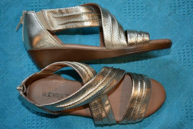 3329c7eaafc6 Supersoft Diana Ferrari Soft Gold Leather Strappy Sandals Size 7. NEW  rrp 149.95