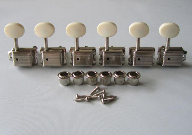 Nickel w/ Ivory Buttons Strat/Tele Vintage Guitar Tuning Keys Guitar Tuners