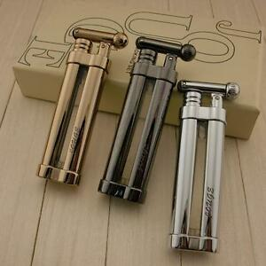 Windproof-Buntane-Flame-Gas-Refillable-Smoking-Cigar-Cigarette-Lighter-jj