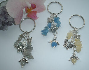 GEMSTONE-CHIP-HEALING-YOU-CHOOSE-CRYSTAL-ANGEL-BAG-CHARM-GIFT-KEYRINGS