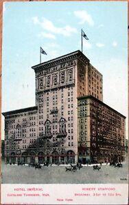 1908-Postcard-Hotel-Imperial-Broadway-Manhattan-New-York-City-NY