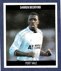 ORBIS 1990 FOOTBALL COLLECTION-#S9-PORT VALE-DARREN BECKFORD   eBay