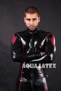 9373364a710d Image is loading Red-Marvel-Rubber-Latex-Catsuit-Men-Latex-Bodysuit-