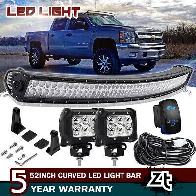 50 Curved Led Light Bar Combo 07 13 Chevy Silverado Gmc Sierra 1500 2500 3500hd Ebay