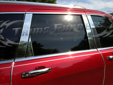 Fit for:2014-2017 Kia Soul 8Pc Chrome Pillar Post Stainless Steel