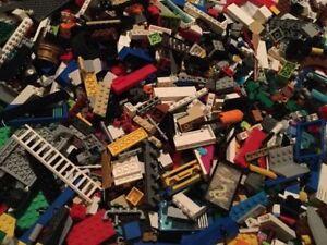 LEGO-lot-de-100-pieces-Pieces-Briques-aleatoire-D-039-enormes-en-vrac-Assortiment-Nettoyer