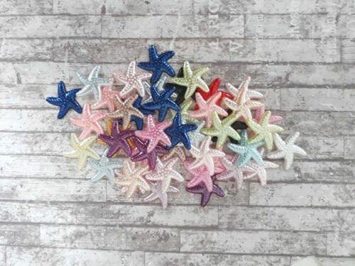 19mm suministro estrellas de mar Cabujones estrellas de mar resina 20 Negro estrellas de mar Flatbacks