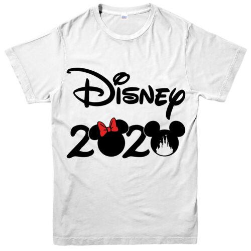 Disnep T-shirt Disney Vacances 2020 Minnie Mickey Mouse adultes et enfants Top