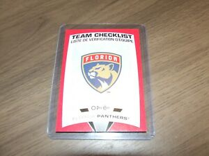 2019-20-O-Pee-Chee-Red-Border-Redemption-team-checklist-BLANK-BACK-florida
