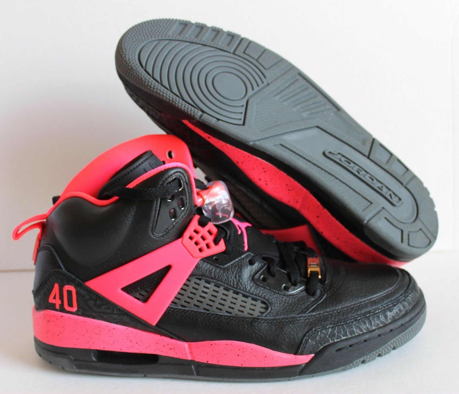 NIKE AIR JORDAN SPIZIKE iD BLACK -SOLAR RED  SZ 13  [605236-999]