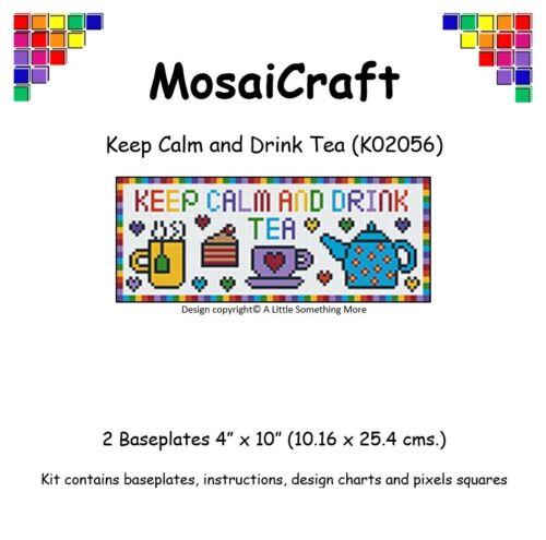 "MosaiCraft Pixel Craft Mosaic Art Kit /""Keep Calm and Drink Tea/"" Pixelhobby"