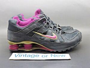 9466dbfd4011 Girls  Nike Shox Turbo OH Black Gold Spark Purple Running Shoes 2006 ...