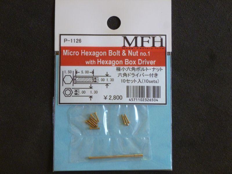 modello Factory Hiro Micro Esagonale Bullone e Dado No.1 10  Set W   100% nuovo di zecca con qualità originale