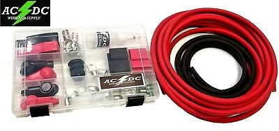 # 2 AWG Cable Battery Relocation Kit Top Post 12 FT RED// 3 FT BLACK
