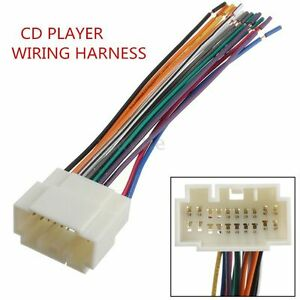 stereo cd player wiring harness wire for honda suzuki aftermarket radio install ebay
