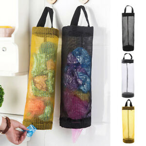 Garbage-Bag-Holder-Wall-Mount-Hanging-Storage-Dispenser-Pouch-Trash-Kitchen