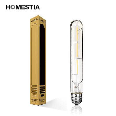 E27 E26 Retro Edison Filament Bulb Light Lamp Long T185 3W Cool Warm White