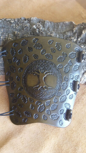 Celtic Tree of Life and leaves leather archery arm guard,bracer,armguard,pagan