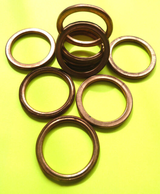 ZZR 600 Z 750 ZR 750 ZX9 C COPPER EXHAUST GASKETS SEAL MANIFOLD GASKET RING  F46