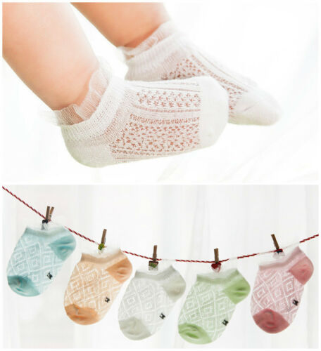 5 pairs Infant Baby Kid Children Cotton Invisible Anklet Socks Summer thin Socks