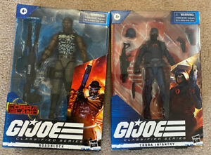 GI Joe Classified Cobra Island Roadblock And Cobra Trooper New in Box