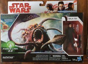 "Star Wars Action Figures 3.75"" Force Link 2 Last Jedi 2Pack Rathtar And Bala-Tik"