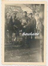 Foto Soldaten mit Pferde Wehrmacht  2.WK (g998)