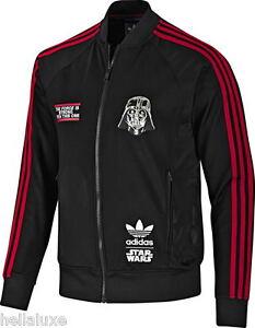 Details about nwt~Adidas STAR WARS DARTH VADER Track shirt Top Sweat Jacket superstar~Men sz S