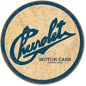 Chevrolet-Historic-Logo-round-metal-Sign-de-Despatched-in-24hrs-from-UK