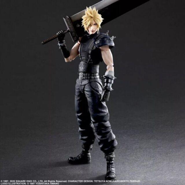 Final Fantasy VII Cloud Strife Remake Play Arts Kai Action Figure Authentic US