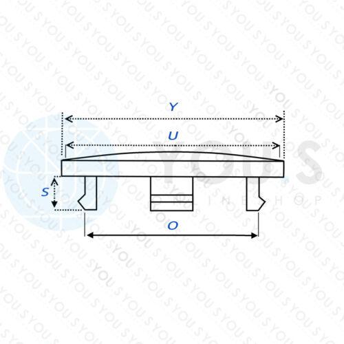 4 x YOU.S Nabenkappen Nabendeckel Felgendeckel 61,5-48,0 mm silber