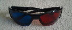 Adroit Brand New Hailan 1 Rouge 1 Bleu Lentille Lunettes De Soleil-afficher Le Titre D'origine