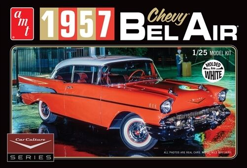 Amt 125 1957 Chevy Bel Air Car Culture White Model Kit Amt983