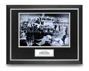 Lisbon Lions Signed 16x12 Framed Photo Display Celtic 1967 Autograph Memorabilia