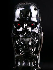 Terminator T800 1:1+ LED, (props model head skull cosplay statue sculture t-800)