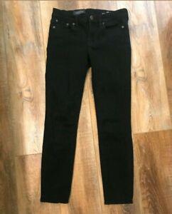 J-Crew-The-9-034-Toothpick-Jean-In-Black-Women-s-Size-28-Skinny-Jeans-NICE