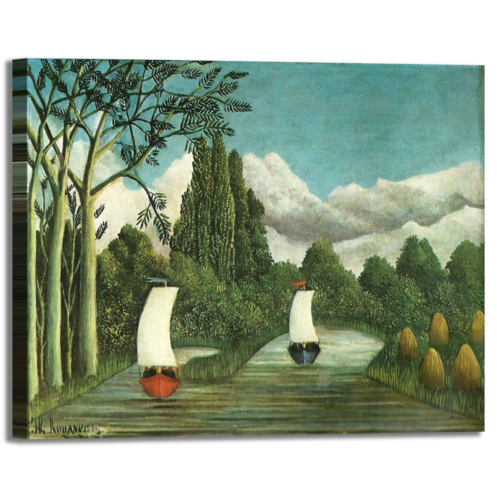 Rousseau barche a vela design quadro stampa tela dipinto telaio arroto casa