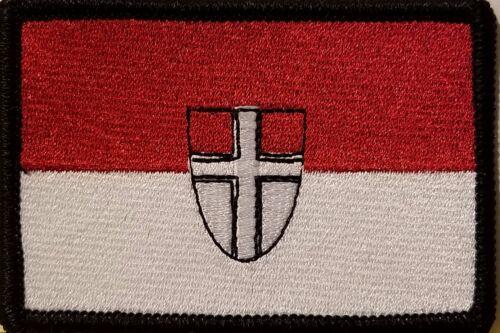 VIENNA AUSTRIA Flag Iron-On Patch Tactical Morale Emblem Black Border Version II