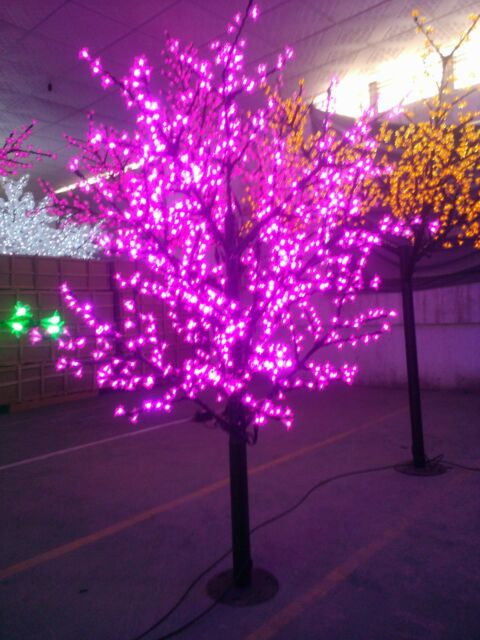 led christmas artificial cherry blossom tree light 65ft height 1152leds purple