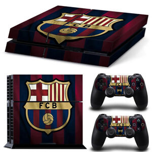 Barca Skin Sticker Cover For Sony Ps4 Console&2 Controllers Vinyl Decal Belle Qualité