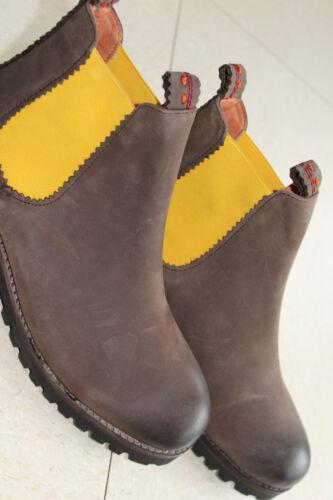 CRICKIT DamenSchuhe aus Leder braun gelb in Größe 39 NEU