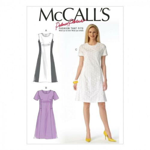 McCalls Ladies Sewing Pattern 7169 Panelled Dresses McCalls-7169-M
