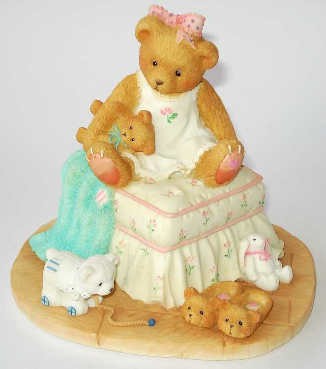 Cherished Teddies-Bear on Ottoman musical rarità USA OVP NUOVO - 128058