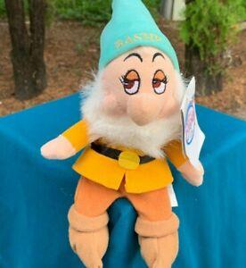 Disney-Store-Snow-White-amp-The-Seven-Dwarfs-Bashful-8-034-Plush-Stuffed-Animal-Toy